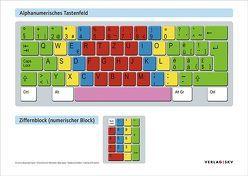 Poster der Tastatur im Format A0 von Bussinger-Sgier,  Christina, Greisler-Reinhard,  Olivia, Sager,  Max