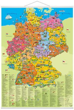"""Poster """"Deutschland Politisch"""" von Krüger,  Dirk, Schönhoff,  Doris"""