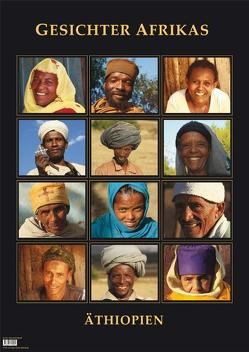 Poster Gesichter Afrikas – Äthiopien von Hoffmann,  Manfred