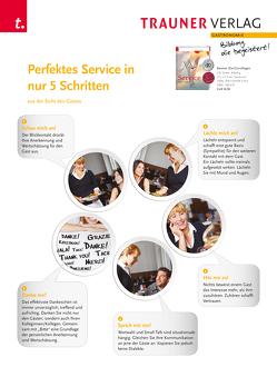 Poster: Perfektes Service in nur 5 Schritten (aus der Sicht des Gastes) von Verlag,  Trauner