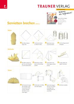 Poster: Servietten brechen (falten) von Verlag,  Trauner