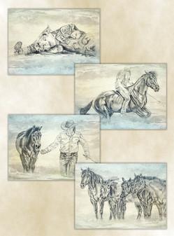 """Poster-Set """"Horsemanship"""" von Kreuer,  Susanne"""