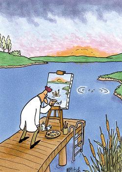 "Postkarte ""Maler"" von Ottitsch,  Oliver"