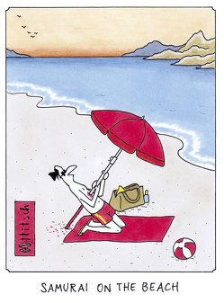 "Postkarte ""Samurai on the Beach"" von Ottitsch,  Oliver"