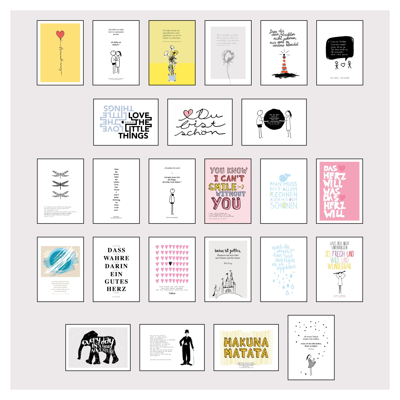 postkarten box set mit 25 detailverliebten und hand designten hochwe. Black Bedroom Furniture Sets. Home Design Ideas