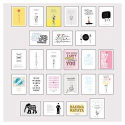 Postkarten Box – Set mit 25 Detailverliebten und Hand designten hochwertigen Postkarten mit liebevollen Zitaten und Sprüchen von Wirth,  Lisa