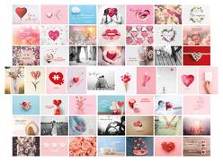 Postkarten Hochzeit 52 Wochen, Set mit 52 Liebespostkarten DIN A6 für Hochzeitsspiel. 1 Jahr jede Woche eine Karte. Kreatives Hochzeitsgeschenk mit romantischen Motiven & Sprüchen. Hochwertige Postkarten für Brautpaar. Gästebuch Alternative von Heisenberg,  Sophie
