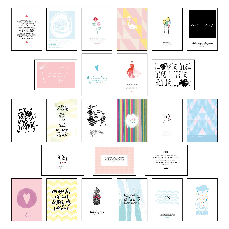 postkarten set postkarten spr che mit 25 hochwertigen versch lie. Black Bedroom Furniture Sets. Home Design Ideas
