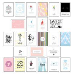 Postkarten Set – Postkarten Sprüche mit 25 hochwertigen versch. liebevollen Motiven und wunderschönen Sprüchen und Zitaten von Wirth,  Lisa