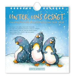 "Postkartenkalender 2020 ""Unter uns gesagt"""