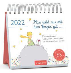 Postkartenkalender Man sieht nur mit dem Herzen gut … 2022 von de Saint-Exupéry,  Antoine