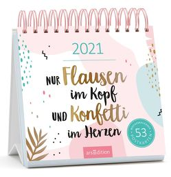 Postkartenkalender Nur Flausen im Kopf und Konfetti im Herzen 2021
