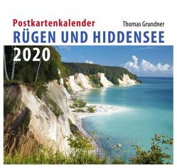Postkartenkalender Rügen und Hiddensee 2020 von Grundner,  Thomas