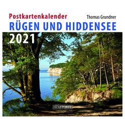 Postkartenkalender Rügen und Hiddensee 2021 von Grundner,  Thomas