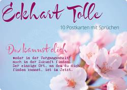 Postkartenset Eckhart Tolle von Zintenz