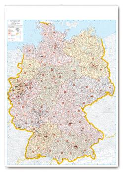 Postleitkarte Deutschland 1:700.000 von garant Verlag GmbH