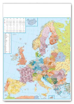 Postleitkarte Europa 1:3,5 Mio.