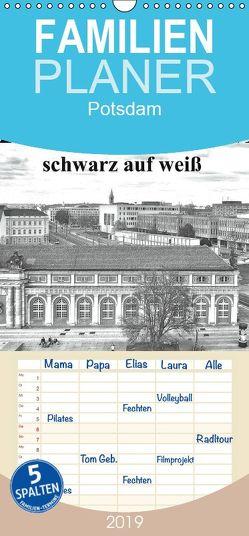 Potsdam schwarz auf weiß – Familienplaner hoch (Wandkalender 2019 , 21 cm x 45 cm, hoch) von Witkowski,  Bernd