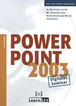 PowerPoint 2003 – Lernprogramm/Digitales Seminar von Hunger,  Lutz