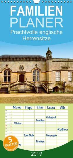 Prachtvolle englische Herrensitze – Familienplaner hoch (Wandkalender 2019 , 21 cm x 45 cm, hoch) von Wernicke-Marfo,  Gabriela