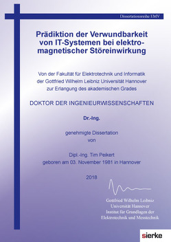 Prädiktion der Verwundbarkeit von IT-Systemen bei elektromagnetischer Störeinwirkung von Peikert,  Tim