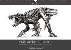 Prähistorische Tierwelt – handgefertigte Detailzeichnungen von Dinosauriern (Wandkalender 2018 DIN A3 quer) von Gehlsdorf,  Timo, van der Ley,  Daniel