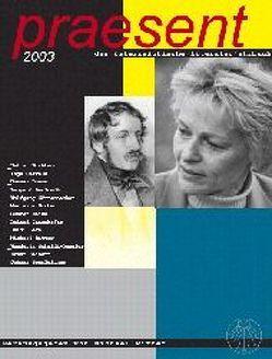 praesent. Das österreichische Literaturjahrbuch / praesent 2003 von Ritter,  Michael