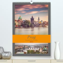 Prag – Die goldene Stadt an der Moldau (Premium, hochwertiger DIN A2 Wandkalender 2021, Kunstdruck in Hochglanz) von Deter,  Thomas