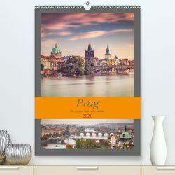 Prag – Die goldene Stadt an der Moldau (Premium, hochwertiger DIN A2 Wandkalender 2020, Kunstdruck in Hochglanz) von Deter,  Thomas