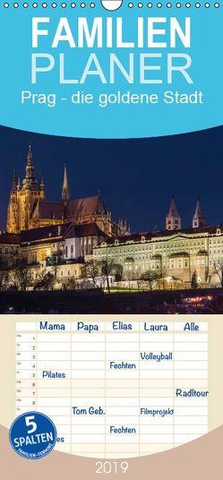 Prag – die goldene Stadt – Familienplaner hoch (Wandkalender 2019 , 21 cm x 45 cm, hoch) von Caccia,  Enrico