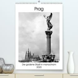 Prag – Die goldene Stadt in monochrom (Premium, hochwertiger DIN A2 Wandkalender 2020, Kunstdruck in Hochglanz) von happyroger