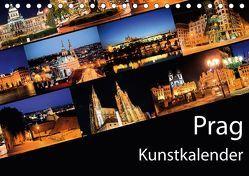 Prag Kunstkalender (Tischkalender 2018 DIN A5 quer) von Müller,  Gregor
