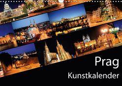 Prag Kunstkalender (Wandkalender 2018 DIN A3 quer) von Müller,  Gregor