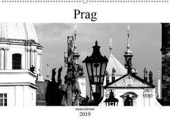 Prag monochrom (Wandkalender 2019 DIN A2 quer) von happyroger
