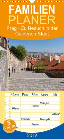 Prag – Zu Besuch in der Goldenen Stadt – Familienplaner hoch (Wandkalender 2019 , 21 cm x 45 cm, hoch) von Albilt,  Rabea