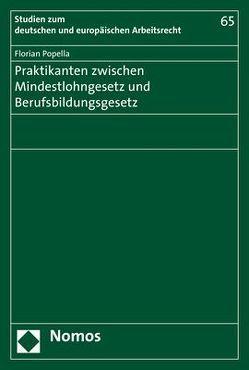 Praktikanten zwischen Mindestlohngesetz und Berufsbildungsgesetz von Popella,  Florian