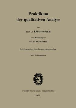 Praktikum der qualitativen Analyse von Souci,  S.W., Thies,  Heinrich