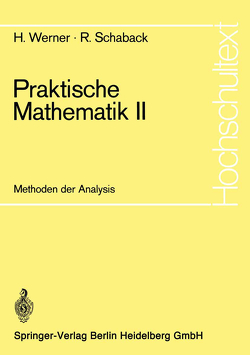 Praktische Mathematik II von Arndt,  H., Runge,  R., Schaback,  R., Werner,  Helmut