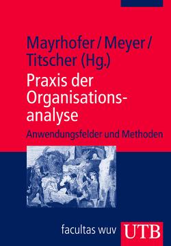 Praxis der Organisationsanalyse von Mayrhofer,  Wolfgang, Meyer,  Michael, Titscher,  Stefan