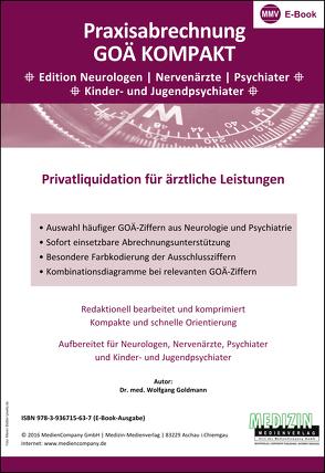 Praxisabrechnung GOÄ Kompakt (eBook) von Dr. med. Goldmann,  Wolfgang