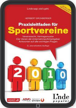 Praxisleitfaden für Sportvereine von Grünberger,  Herbert