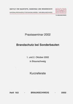 Praxisseminar Brandschutz bei Sonderbauten 2002 von Hosser,  Dietmar