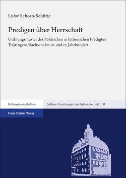 Predigen über Herrschaft von Schorn-Schütte,  Luise