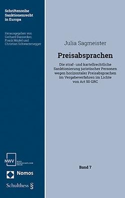 Preisabsprachen von Sagmeister,  Julia