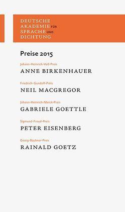 Preise 2015 von Deutsche Akademie für Sprache und Dichtung