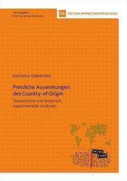 Preisliche Auswirkungen des Country-of-Origin von Koschate,  Nicole, Oldenkotte,  Katharina