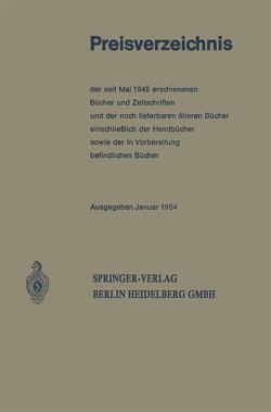 Preisverzeichnis von Springer Berlin