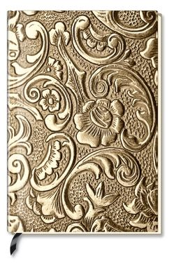 Premium Book Metallic Ornament – Notizbuch – liniert – (12 x 17)