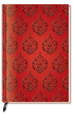 Premium Book Red Flower – Notizbuch – liniert – (12 x 17)