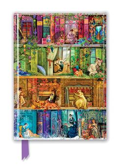 Premium Notizbuch DIN A5: Aimee Stewart, Bücherregal Carpe Diem